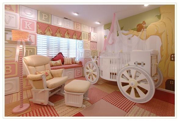 Дизайн интерьера детской комнаты для